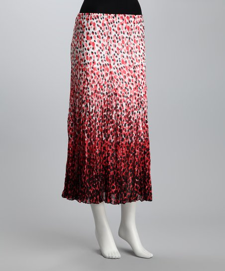 Pink & Coral Spotted Skirt