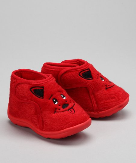 Red Puppy Slipper
