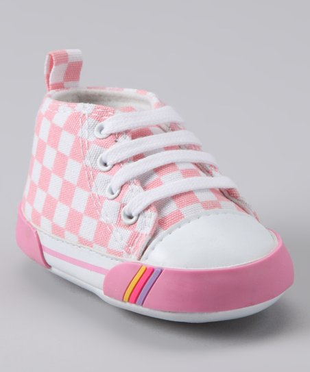 Pink Checkerboard Hi-Top
