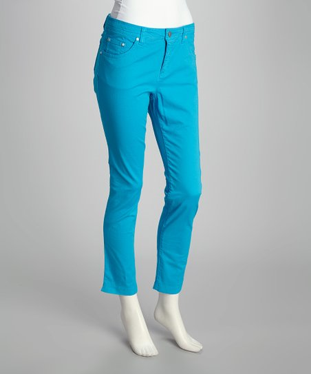 Pool Blue Cropped Jeans