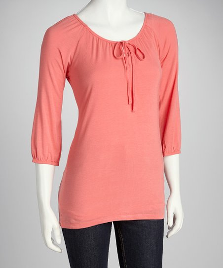 Sun-Kissed Orange Tie-Front Top