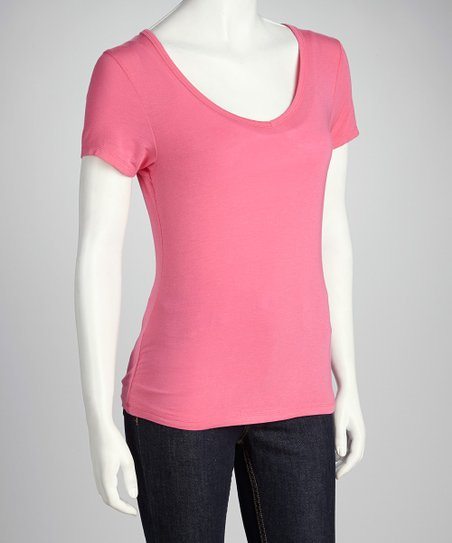 Flamingo Pink Short-Sleeve Tee
