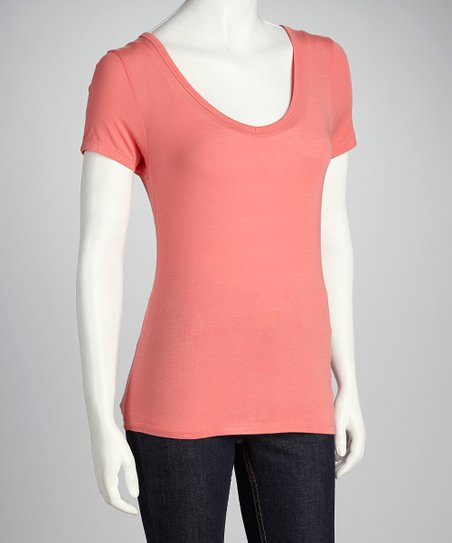 Sun-Kissed Orange Short-Sleeve Tee
