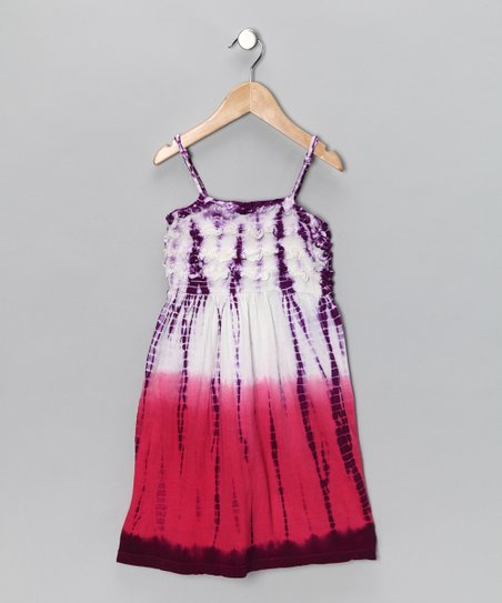 Purple & Fuchsia Dip-Dye Dress - Toddler & Girls