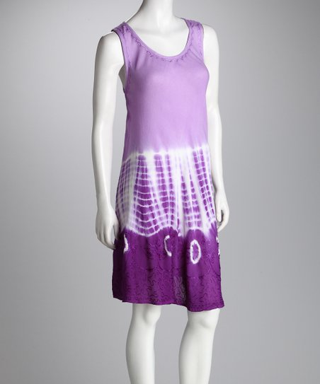 Purple Dip-Dye Dress - Women