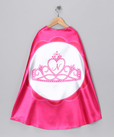 Hot Pink Princess Initial Cape