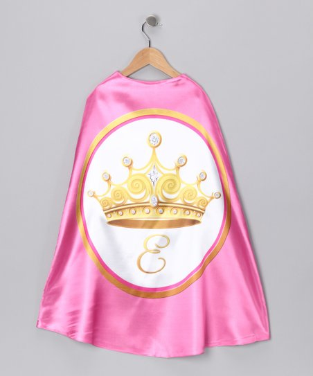 Pink Princess Initial Cape