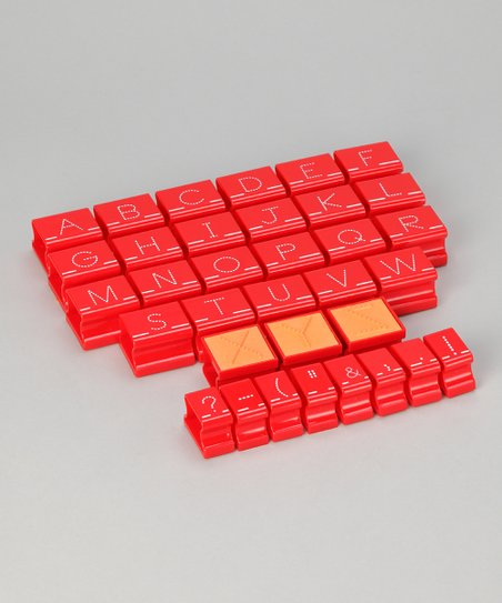 Red Uppercase Visual Closure Alphabet Stamp Set