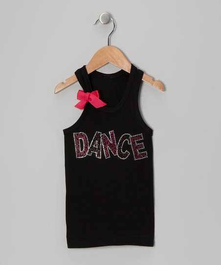 Black 'Dance' Bow Tank - Infant, Toddler & Girls