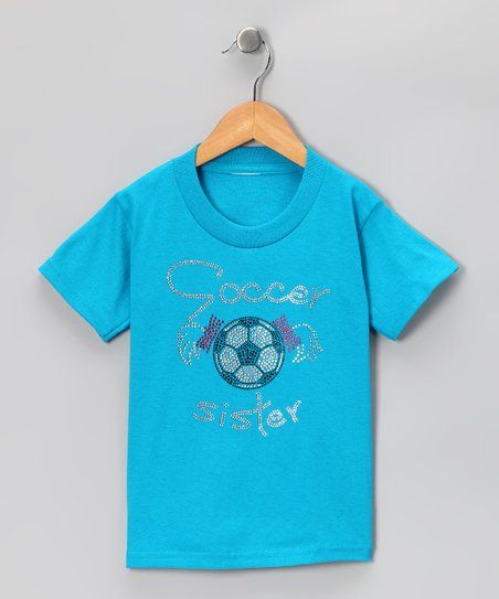 Turquoise Soccer Sister&#039; Tee - Toddler &amp; Girls
