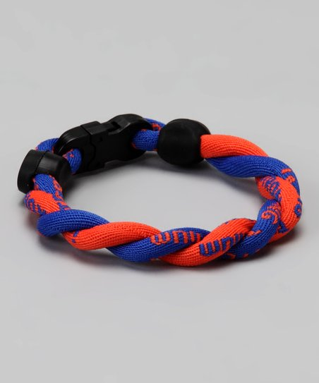 Blue & Orange Fanwear Titanium Sports Bracelet