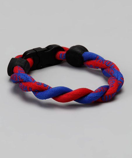 Blue & Red Fanwear Titanium Sports Bracelet