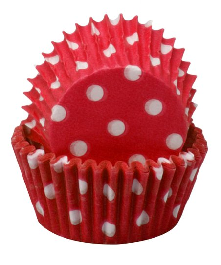 Red Polka Dot Mini Cupcake Liner - Set of 60