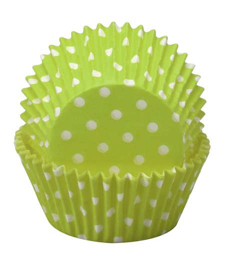 Green Polka Dot Cupcake Wrapper - Set of 60