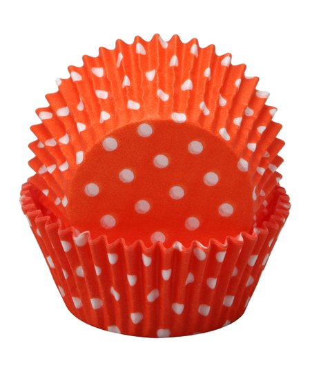 Regency Wraps Orange Polka Dot Cupcake Liner - Set of 60