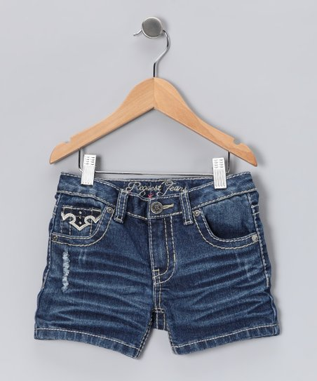 Dark Wash Cornell Shorts - Toddler & Girls