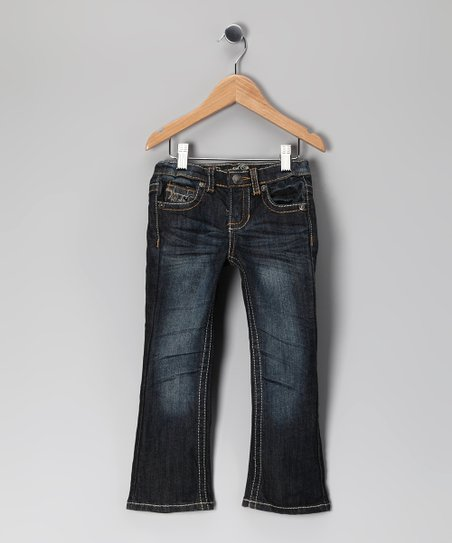 Blue Distressed McKinley Jeans - Toddler & Girls