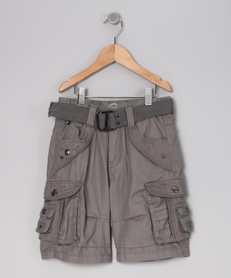Gray Cargo Shorts - Boys