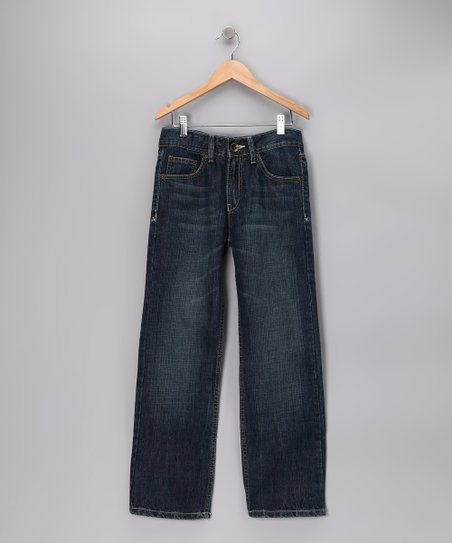 Light Blue Delancy Straight-Leg Jeans