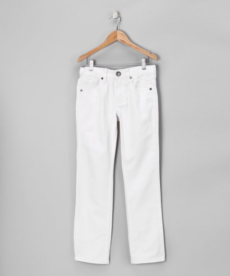 White Straight-Leg Pants - Boys
