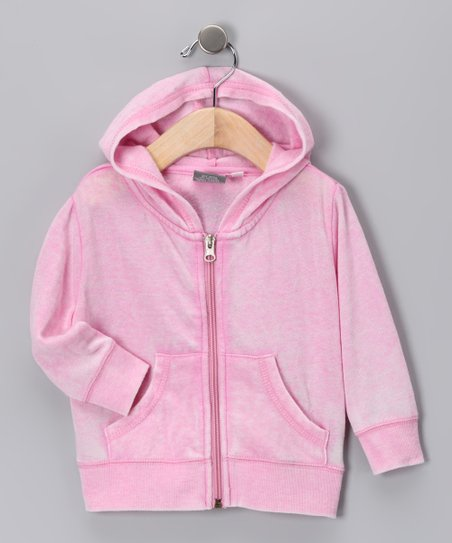 Fuchsia Tissue Zip-Up Hoodie - Infant