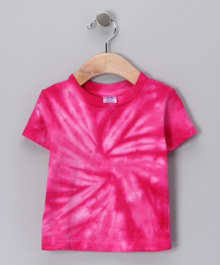 Pink Spider Tie-Dye Tee - Infant