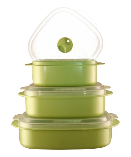 Green Cookware & Storage Set