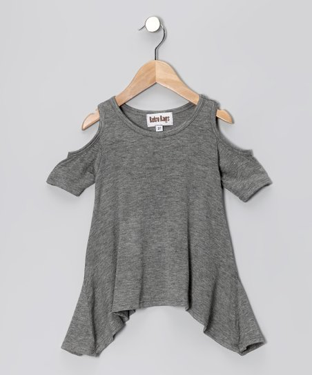 Heather Gray Cutout Tunic - Toddler & Girls