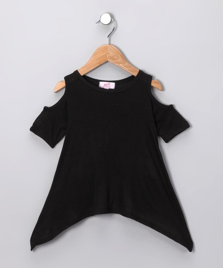 Black Cutout Tunic - Toddler & Girls