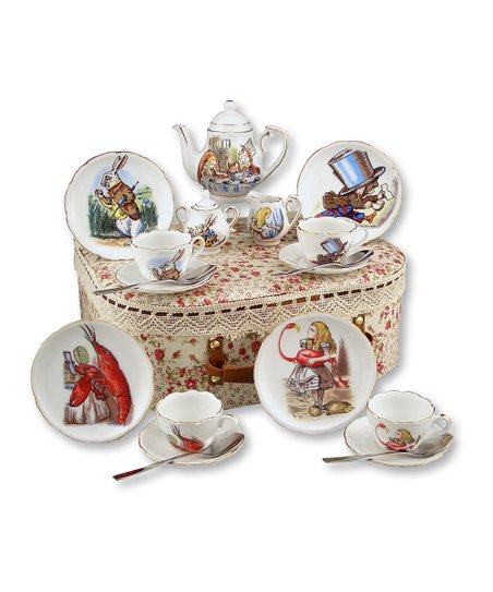 Alice in Wonderland Medium 20-Piece Tea Set