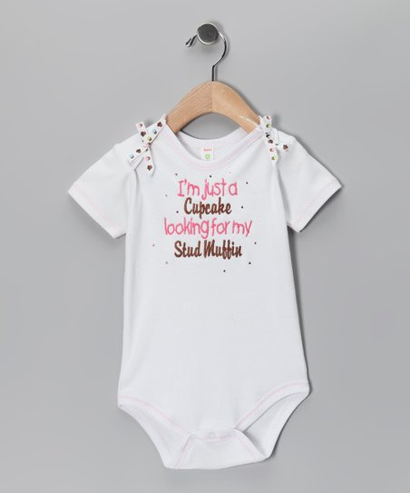 White 'Cupcake' Bodysuit - Infant