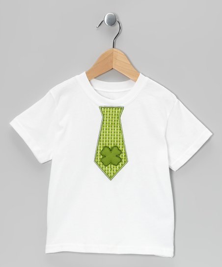 White St. Paddy's Tie Tee - Toddler & Boys