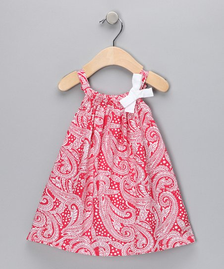 Red Paisley Sundress & Diaper Cover - Toddler