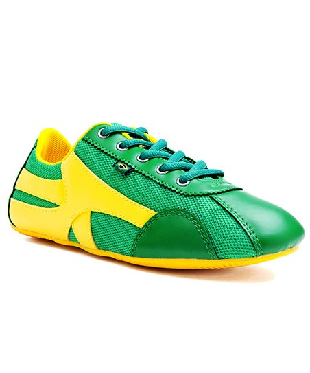 Green & Yellow Brazil Sneaker - Women
