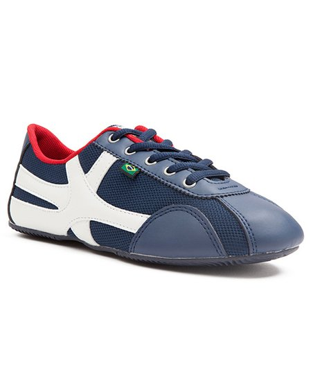 Navy &amp; White USA Sneaker - Women