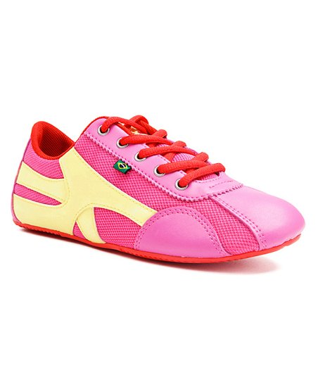 Pink &amp; Cream Chiclete Sneaker - Women