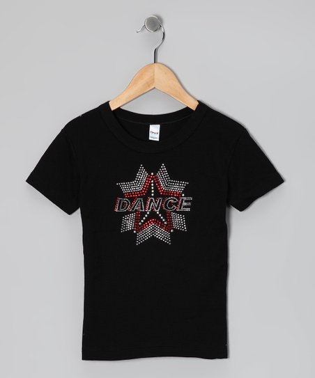 Black & Red 'Dance' Star Tee - Toddler & Girls