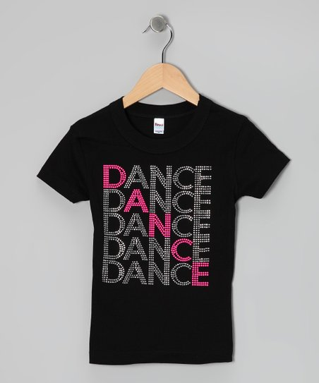 Black 'Dance' Tee - Girls