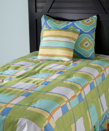 Plaid Comforter Set