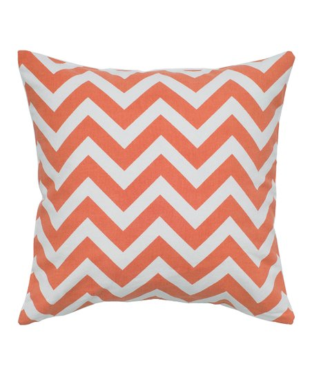 Orange & White Zigzag Contemporary Pillow - Set of Two
