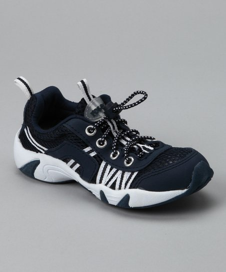 Navy Running Shoe - Kids