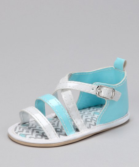 Blue &amp; White Zigzag Sandal