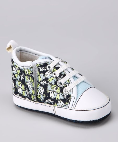Blue & Green Graffiti Sneaker