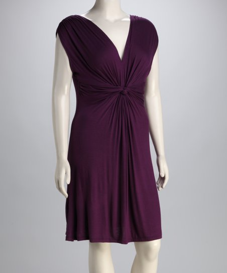 Purple Knot Dress - Plus