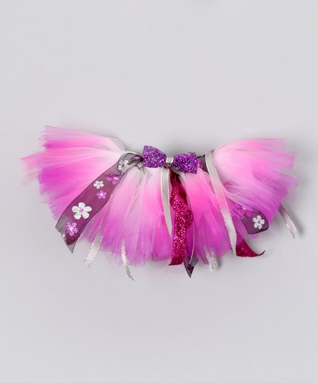 Pink &amp; Purple Daisy Doll Tutu