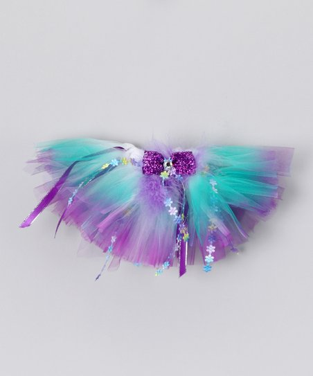 Green &amp; Purple Jessica Doll Tutu