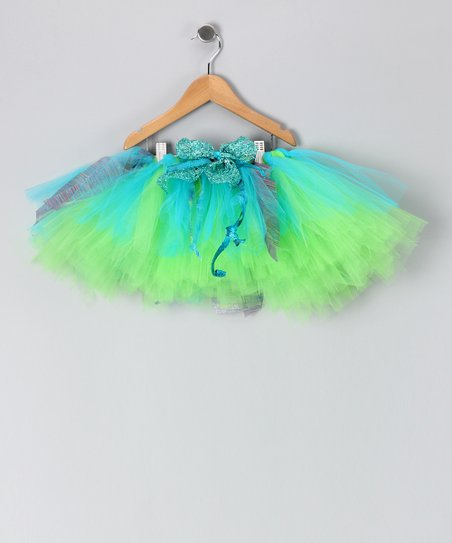 Lime &amp; Turquoise Chloe Tutu - Toddler &amp; Girls
