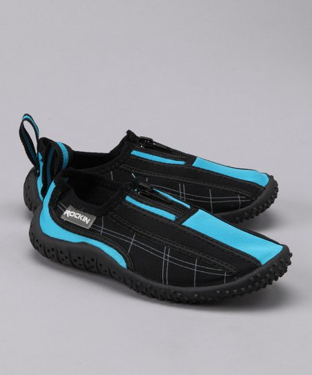 Black & Blue Aqua Shoe
