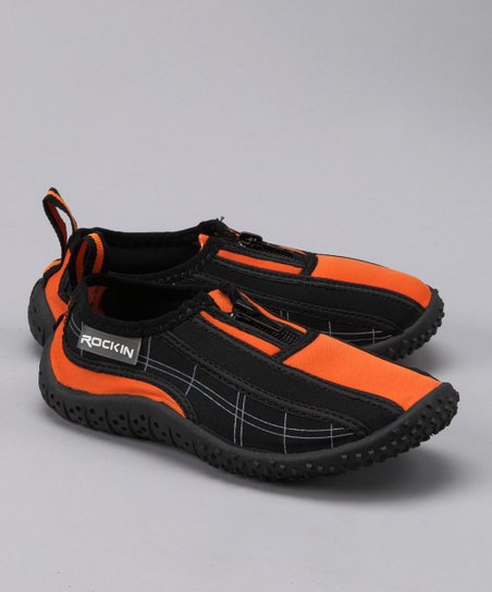 Black & Orange Aqua Shoe
