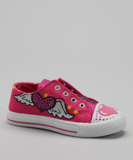 Fuchsia Holly Slip-On Sneaker